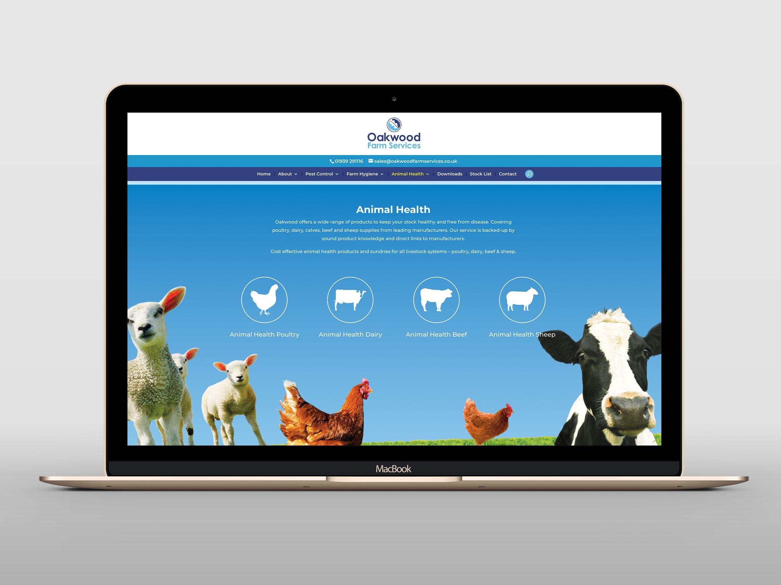 Oakwood Farm Services Website