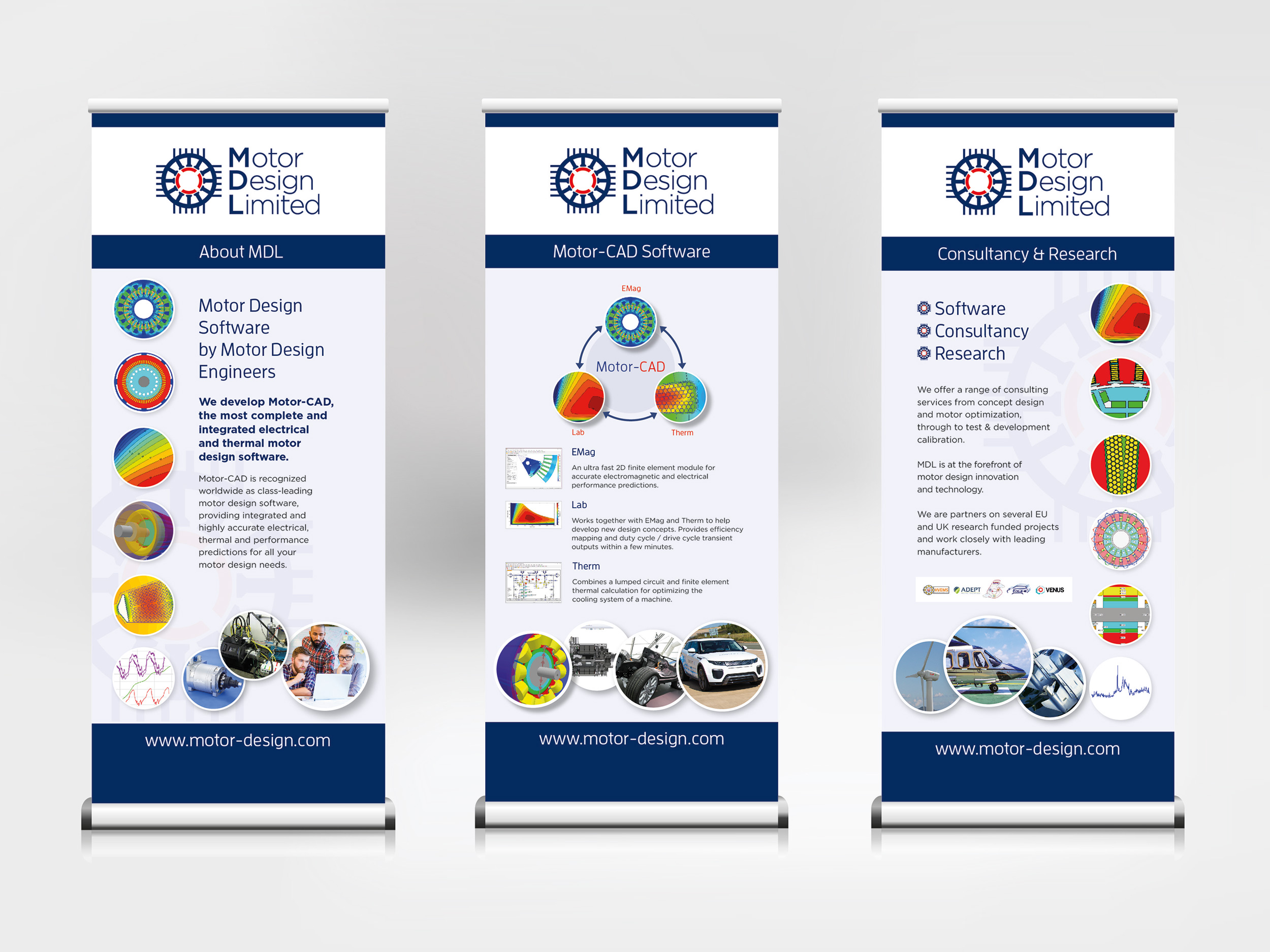 Motor Design banners